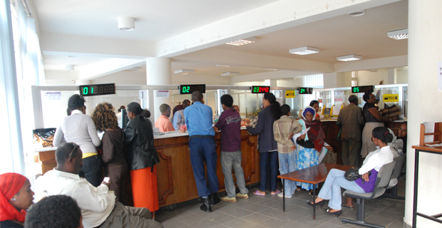The Last Few Days Before Easter Are Busy At Most Banks Crowded By People That Visit Branches To Send Or Receive Money