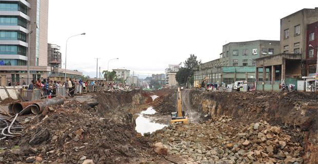 Ethiopian News Source : Rail Construction Causes Chaos