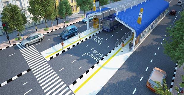 Image result for Ethiopia construction of BRT corridor