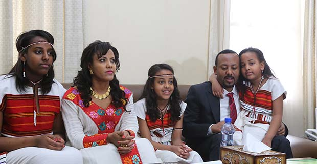 Image result for Ethiopian Prime Minister Abiy Ahmed and his wife